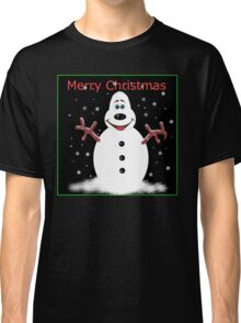 Merry Christmas Snooooman Classic T-Shirt