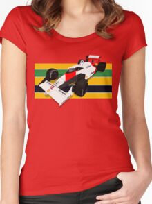 Ayrton Senna - McLaren MP4/4 Women's Fitted Scoop T-Shirt