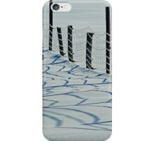 Fence Shadows Snow Winter Farm iPhone Case/Skin