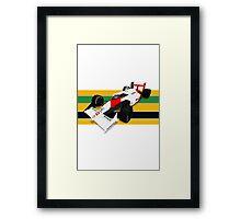Ayrton Senna - McLaren MP4/4 Framed Print