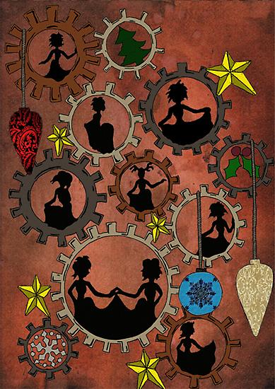 Nine Ladies Dancing by CogsandCards