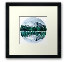 Lake Mountain Reflection Framed Print
