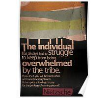 Humanity. Nietzsche. Poster