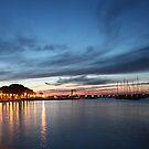 Nightfall over Marciana Marina 2 by Christine Oakley