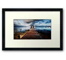 Boatshed Framed Print