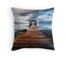 Boatshed Throw Pillow