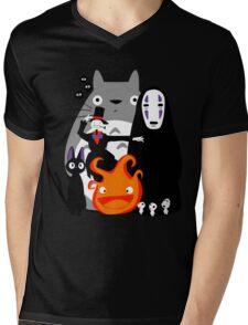 Ghibli'd Away Mens V-Neck T-Shirt
