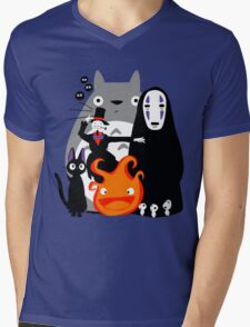 Ghibli'd Away Mens V-Neck T-Shirt