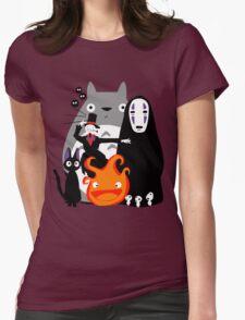 Ghibli'd Away Womens Fitted T-Shirt