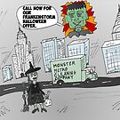 Post-Frankenstorm cleanup cartoon by Binary-Options