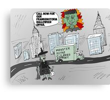 Post-Frankenstorm cleanup cartoon Canvas Print