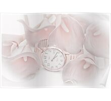 Calla Lilies And Watch Poster