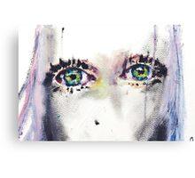 Girl Eyes Oil Painting Canvas Print