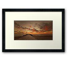 City Beach Framed Print