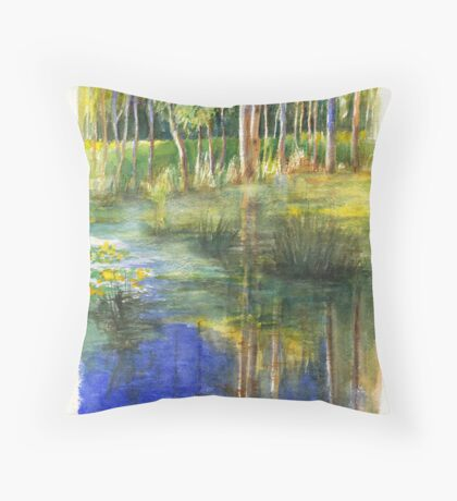 Westerfolds Billabong in morning sun Throw Pillow