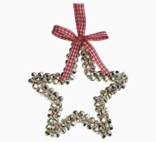 Silver Bells Christmas Star Decoration One Piece - Short Sleeve