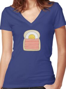 bed and breakfast Women's Fitted V-Neck T-Shirt
