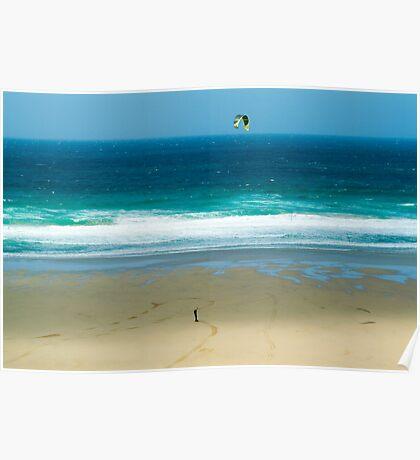 Kiteboarding in Cornwall. Poster