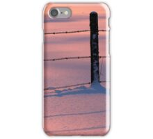 Fence Wire Pink Blue Snow iPhone Case/Skin