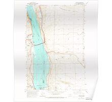 USGS Topo Map Washington State WA Vantage 244460 1965 24000 Poster