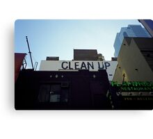 Clean Up Notice, New York Canvas Print