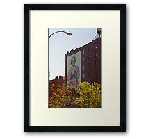 Retro Nurse poster, New York Framed Print