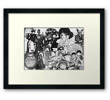 Studio Ghibli montage Framed Print