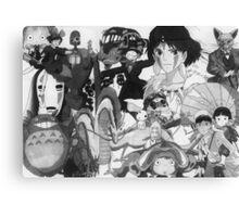 Studio Ghibli montage Canvas Print