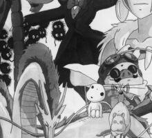 Studio Ghibli montage Sticker
