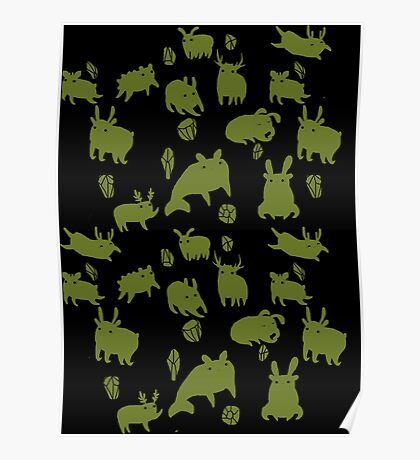 Weebeasts (olive and light green) Poster