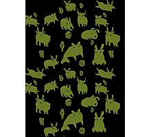 Weebeasts (olive and light green) Photographic Print