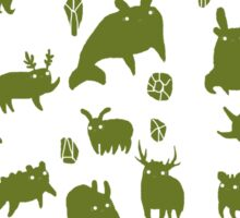 Weebeasts (olive and light green) Sticker
