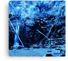 Mariners Falls in Blue Canvas Print
