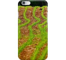 Field Crop Rows Curves iPhone Case/Skin