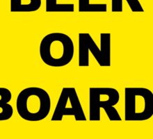 Beer on Board Sticker