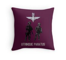 """Utrinque Paratus""- Ready for Anything Throw Pillow"
