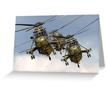 Westland Sea King HC.4 Helicopters Greeting Card