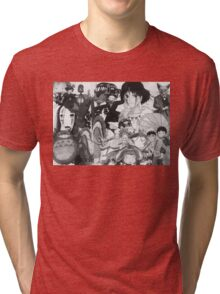 Studio Ghibli montage Tri-blend T-Shirt