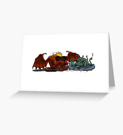 Moria Monsters Texting Greeting Card