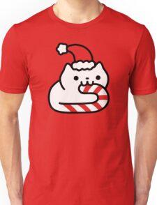 Candy Cane Cat Unisex T-Shirt