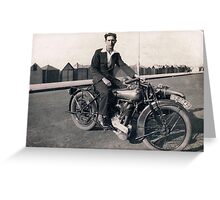 Brough Superior motorcycle-1930s Greeting Card
