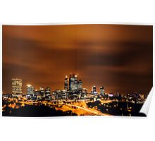Perth City Lights Poster
