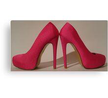 Pink pair of killer heels 2 Canvas Print