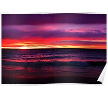Rainbow Coloured Sunset Poster