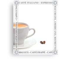 Cafe Posters Canvas Print