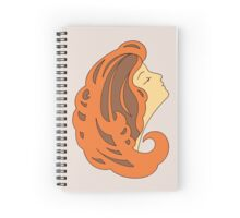 Brown haired girl Spiral Notebook