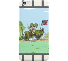 WW2 US Army jeep at countryside iPhone Case/Skin