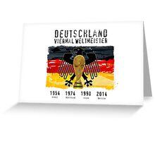 Deutschland: Viermal Weltmeister Greeting Card