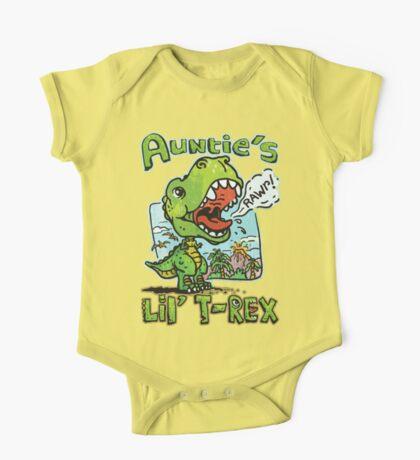 Auntie's Little T-Rex Dinosaur One Piece - Short Sleeve