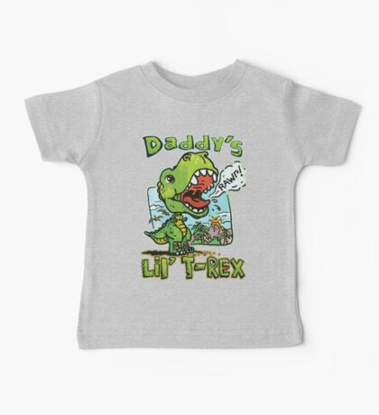 Daddy's Little T-Rex Dinosaur Baby Tee